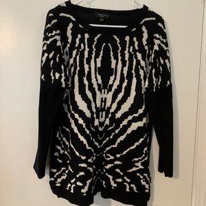 Spense black print sweater!